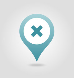 Delete pin map icon map pointer markers vector