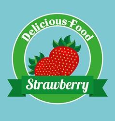 delicious food design vector image