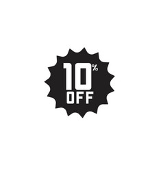Discount 10 off label template design vector
