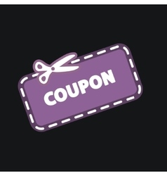Discount Coupon Icon vector