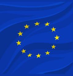 european union flag or banner europe vector image