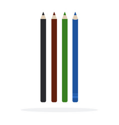 eyeliners flat material design isolated object on vector image