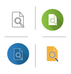 Find in page icon vector