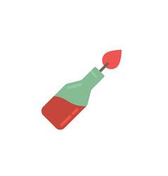 Fire cocktail bottle or molotov icon symbol vector