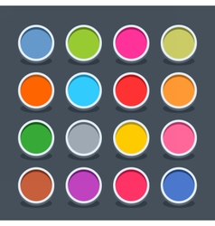 Flat blank web button circle icon with shadow vector