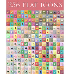 flat icons 03 vector image