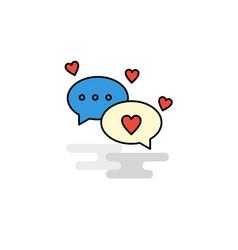 flat romantic chat icon vector image