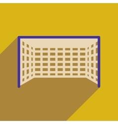 Flat web icon with long shadow football goal vector