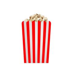 fresh popcorn mockup realistic style vector image