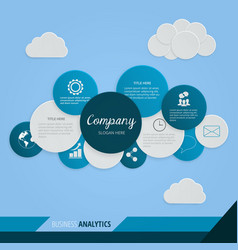 geometrical business cloud infography design vector image