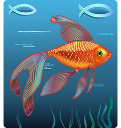 Golden Jesus fish vector