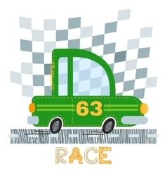 Green car t-shirt design vector image vector image
