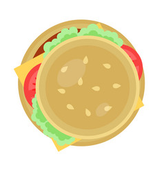 hamburger icon in flat design vector image