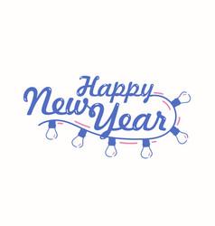 Happy new year festive lettering written vector