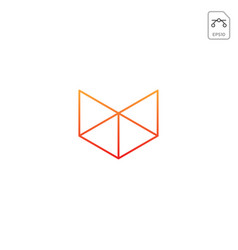 head fox geometric logo design icon isolated vector image