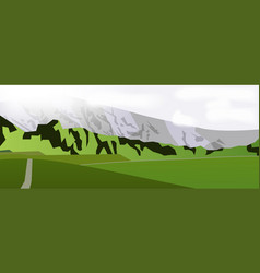 Horizontal web banner mountain landscape vector