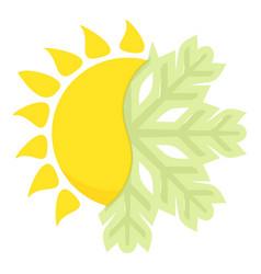 Hot cold icon cartoon style vector