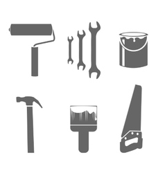 House remodel tools icons set vector