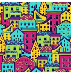 Houses new pattern vector