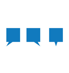 Icon set square speech bubbles vector