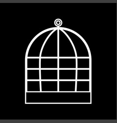 Iron cage it is icon vector
