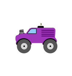 isolated old racing truck icon vector image