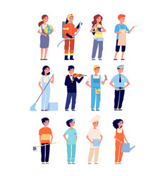 kids professions children workers in professional vector image