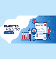landing page for diabetes mellitus awareness vector image