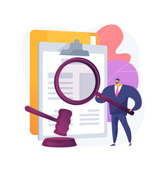 Legal research abstract concept vector