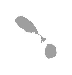 map saint kitts and nevis isolated black on vector image