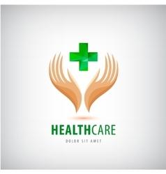 Medical pharmacy cross logo design template vector image