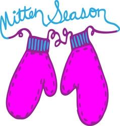 Mitten Season vector