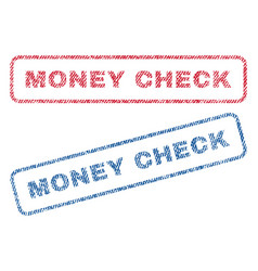 Money check textile stamps vector