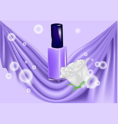 Nail polish and white rose vector