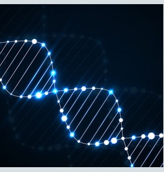Neon dna spiral abstract background vector