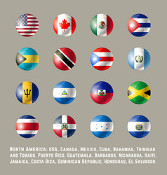 north america round flags vector image