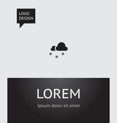 of weather symbol on vector image