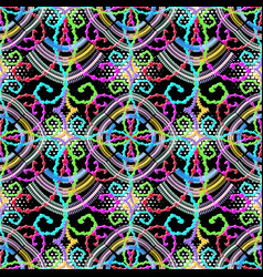 ornamental geometric seamless pattern colorful vector image