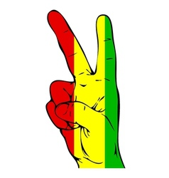 Peace Sign of the Guinea flag vector image
