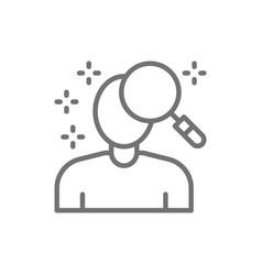 person search face verification line icon vector image