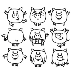 piglets vector image