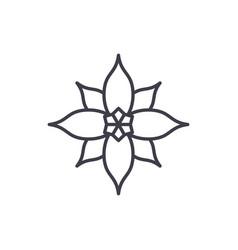 poinsettia line icon concept poinsettia flat vector image