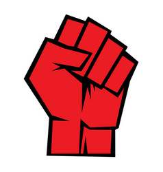 Raised fist icon vector