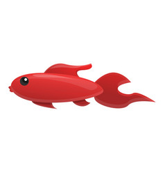 red fish icon cartoon style vector image