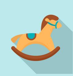 rocking horse icon flat style vector image