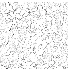 Seamless pattern of black and white roses vector