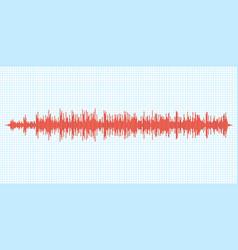 Seismogram earthquake seismic graph diagram vector
