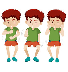 set of boy dancing vector image