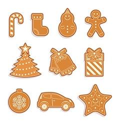 Set of Gingerbread cookies vector