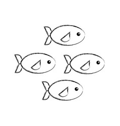 Shoal of fish icon vector